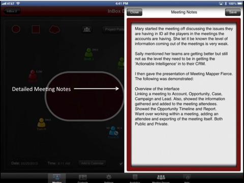 Meeting Mapper Screenshots