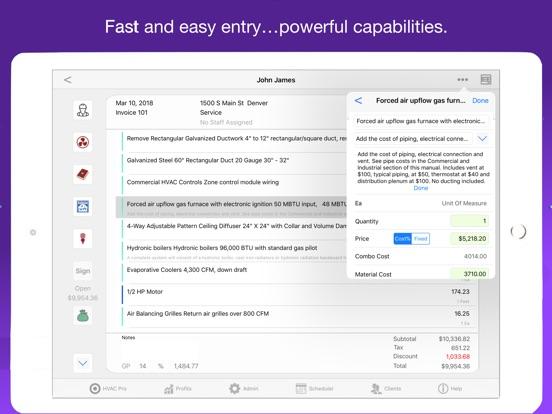 HVAC Pro Invoices & Estimates Screenshots