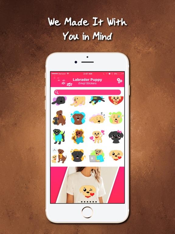 Labrador Puppy Emoji Stickers Screenshots