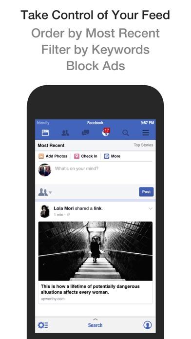 Friendly Plus for Facebook Screenshots