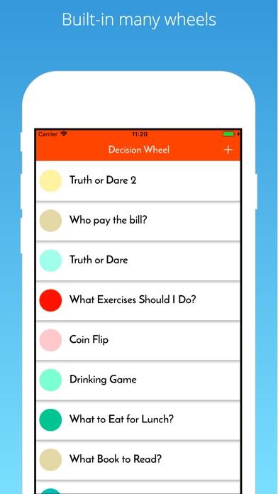 iWheel Decision Maker Decide Screenshots