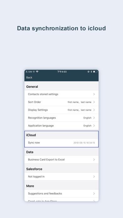 business card scanner-sam pro Screenshots