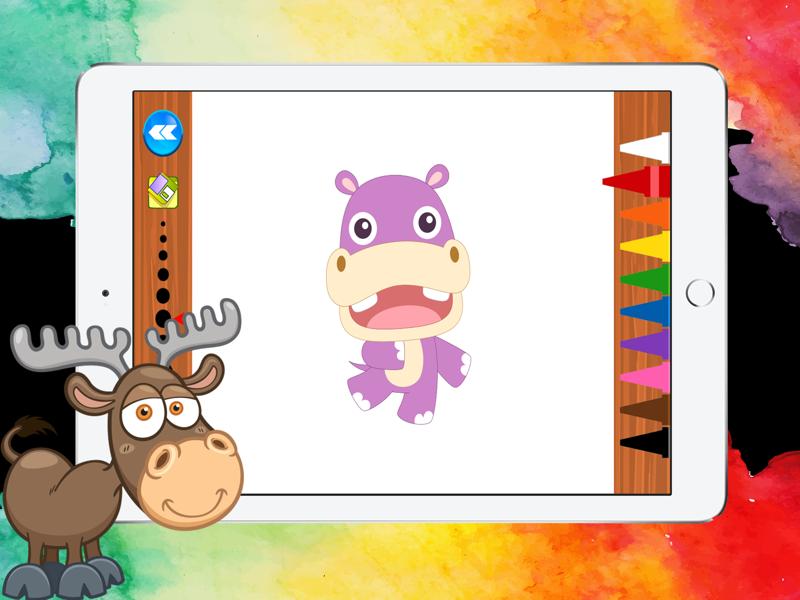 动物世界图画书为孩子们的游戏