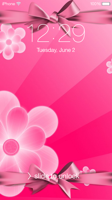 粉红色的壁纸和主题 - 可爱的高清背景为家庭和锁屏 app 截图