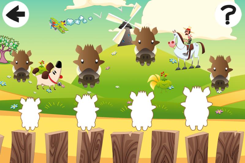 动物儿童游戏:学习排序开心农场英雄