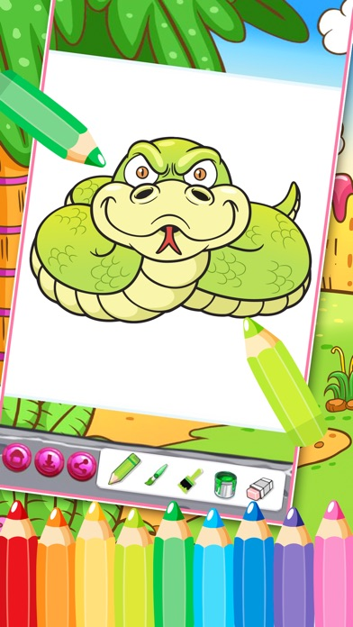 coloring book - 涂鸦填色本 - 色彩与绘画 儿童沙画游戏—可爱宝贝