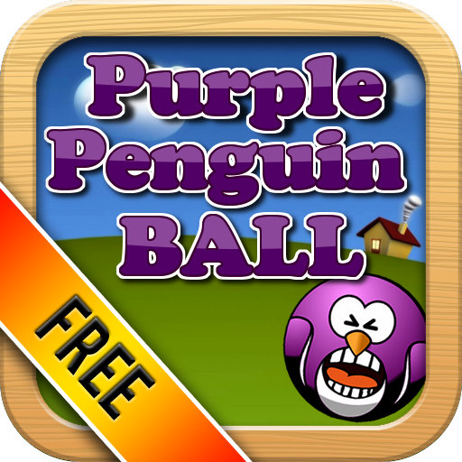 Purple Penguin Ball HD