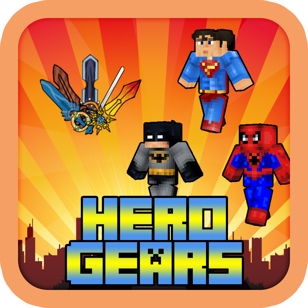 The Pixel Superhero Gears - The Popular Hero Hunter Weapons Block Craft World Edition