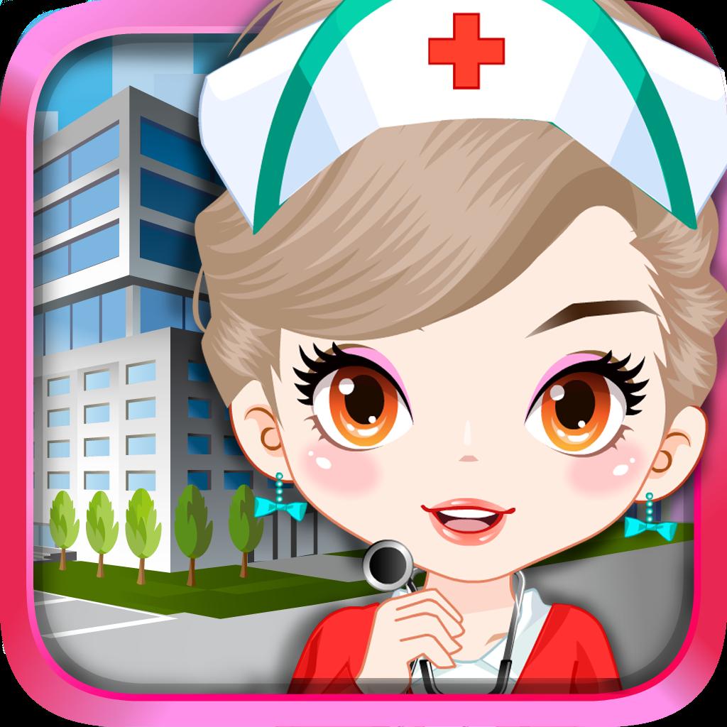 打扮漂亮護士女孩