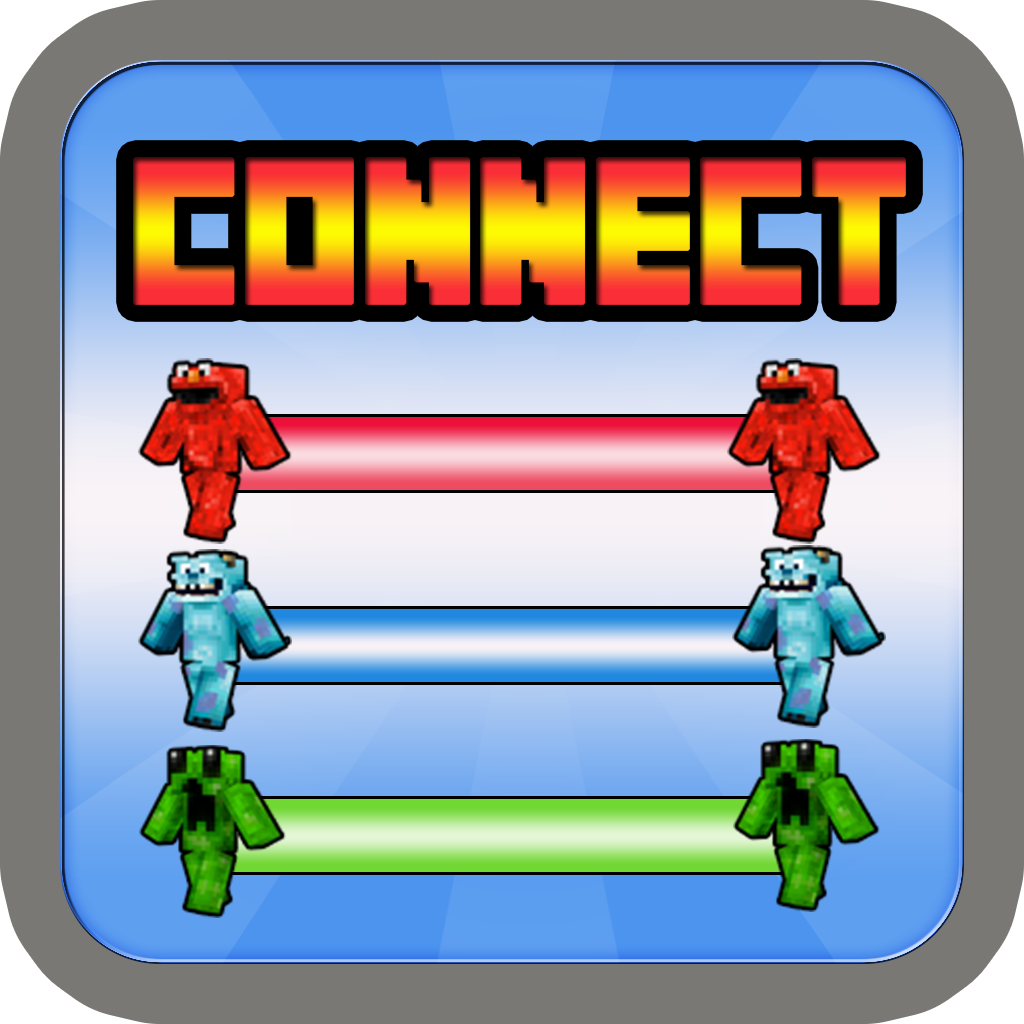 Connect Pixel Monster Skin Free : Free Flow Block Craft World Edition