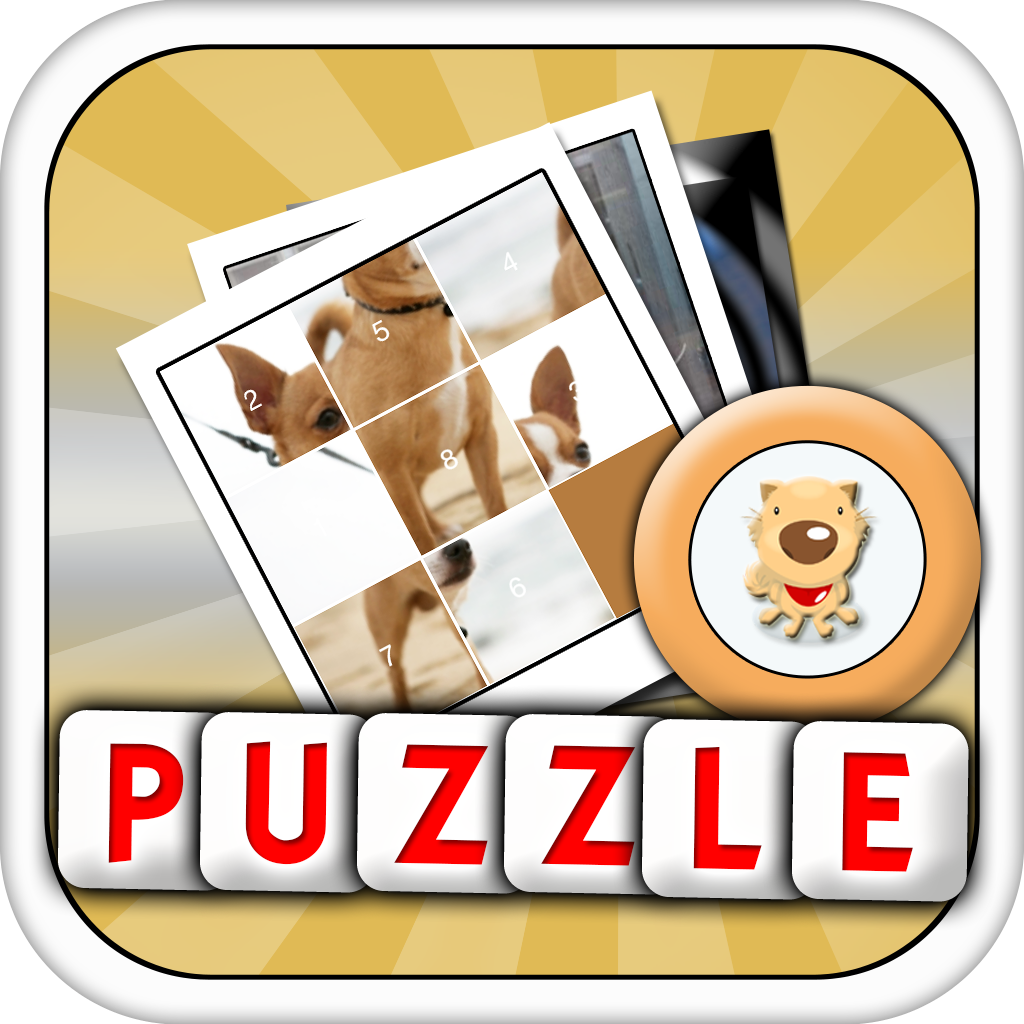 Tile Puzzle : Popular Dog Breeds of All Time ( Pictures Animals Edition Sliding Puzzle )