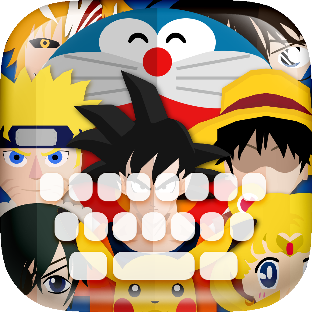 KeyCCM – Manga & Anime Heroes : Custom Color & Flat Wallpaper Keyboard Themes in The Superhero Cartoon Design Collection