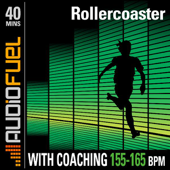 Rollercoaster: 40 Minutes of Mid Intensity Running Music (150 BPM to 165 BPM). This Workout Comes With Voice Over Coaching.