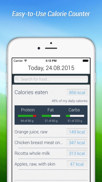 Calorie Counter Fat Alien Lite: for men and women who want to lose or gain weight