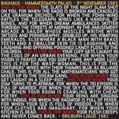 Bauhaus - Mask (Live At Hammersmith Palais, 9th November 1981)