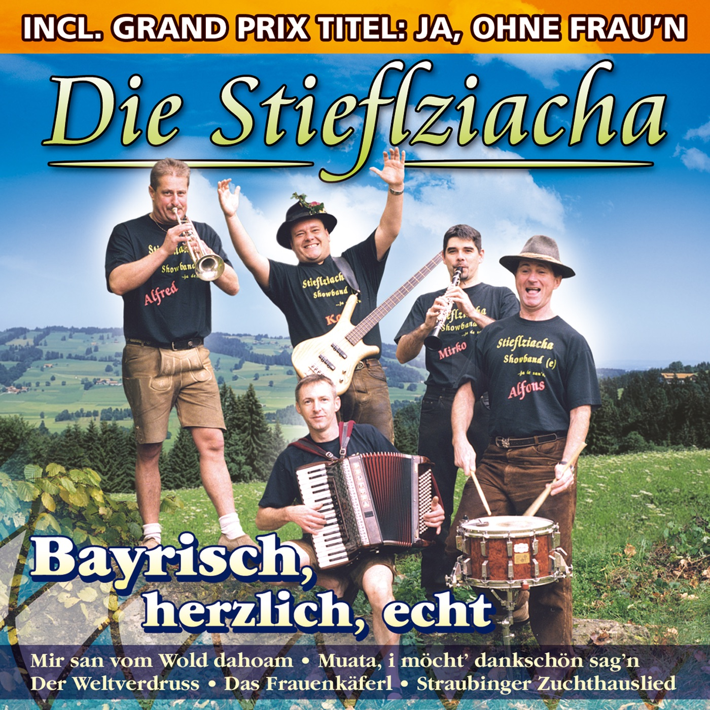 MP3 Songs Online:♫ Es wollt ein Graf in seine Heimat reisen - Die Stieflziacha album Bayrisch, herzlich, echt. German Folk,Music listen to music online free without downloading.