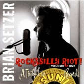 Brian Setzer - Peroxide Blonde In a Hopped Up Model Ford