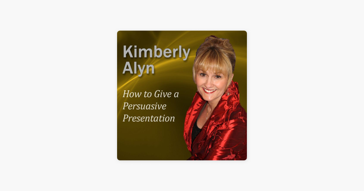 how to give a persuasive presentation