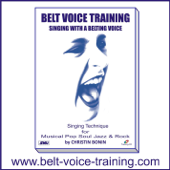 belt voice training - singing lesson 1 for  male voice - supported piano