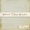 What They Wrote - Tyler Ward