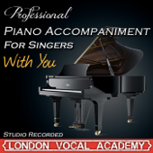 With You ('Ghost' Piano Accompaniment) [Professional Karaoke Backing Track]