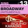 Sing Baritone Broadway Vol 13 Karaoke Performance Tracks