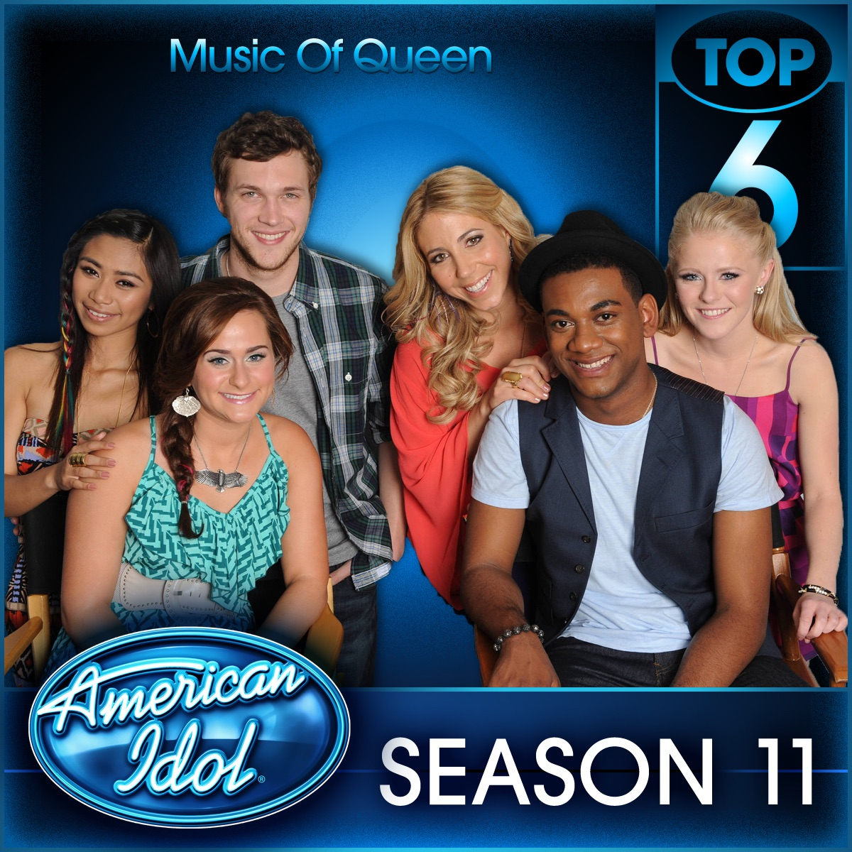 American Idol Top 6 Music of Queen - Season 11 - EP Various Artists CD cover