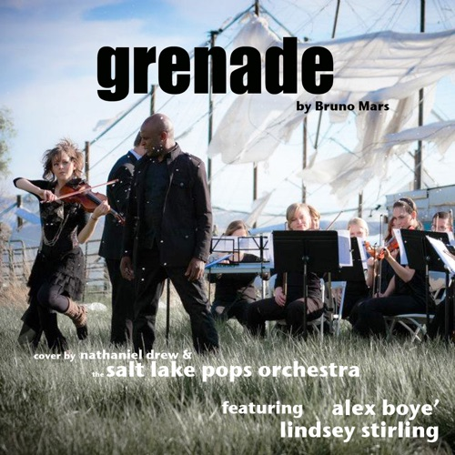 Nathaniel Drew & Salt Lake Pops Orchestra - Grenade (feat. Alex Boyé & Lindsey Stirling) - Single