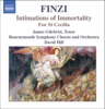 Finzi: Intimations of Immortality, For St. Cecilia, Bournemouth Symphony Chorus, Bournemouth Symphony Orchestra, David Hill & James Gilchrist