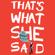 Altman Mara Altman - That's What She Said (Unabridged)