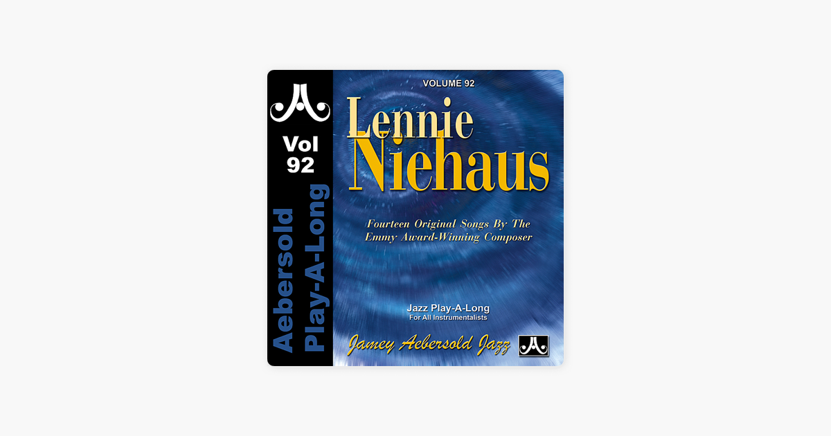 itunes iphone backup lennie niehaus vol 92 by jamey aebersold play a on 1987