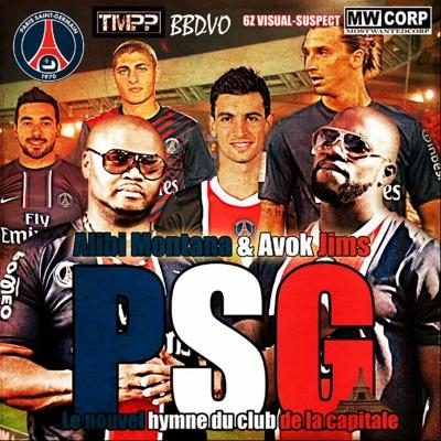 PSG (feat. Avok Jims) [Le nouvel hymne du club de la capitale] - Single - Alibi Montana