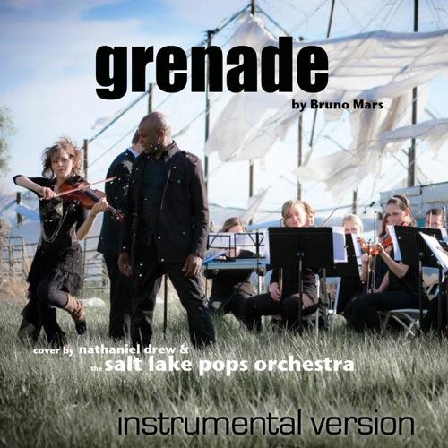 Nathaniel Drew & Salt Lake Pops Orchestra - Grenade (Instrumental Version) [feat. Lindsey Stirling] - Single