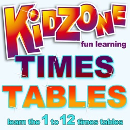 Times tables learn the 1 to 12 times tables by kidzone for 12 times table song