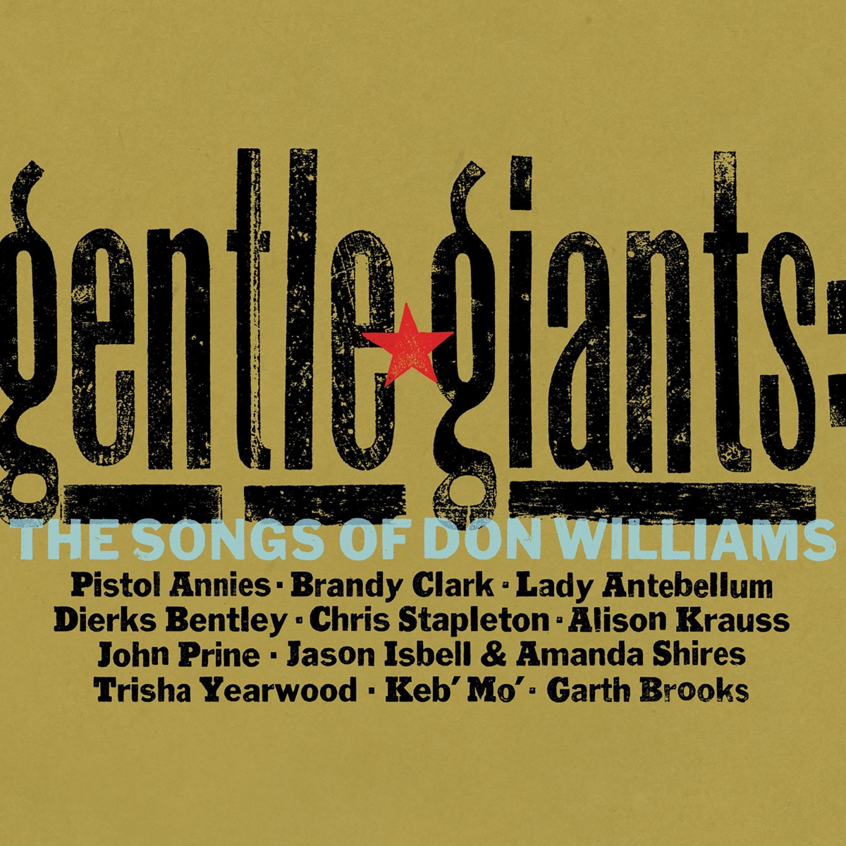 Gentle Giants The Songs of Don Williams Various Artists CD cover