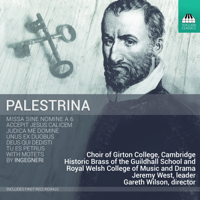 Choir of Girton College, Cambridge, Historic Brass of the Guildhall School and Royal Welsh College of Music and Drama & Gareth Wilson - Palestrina & Ingegneri: Sacred Works artwork