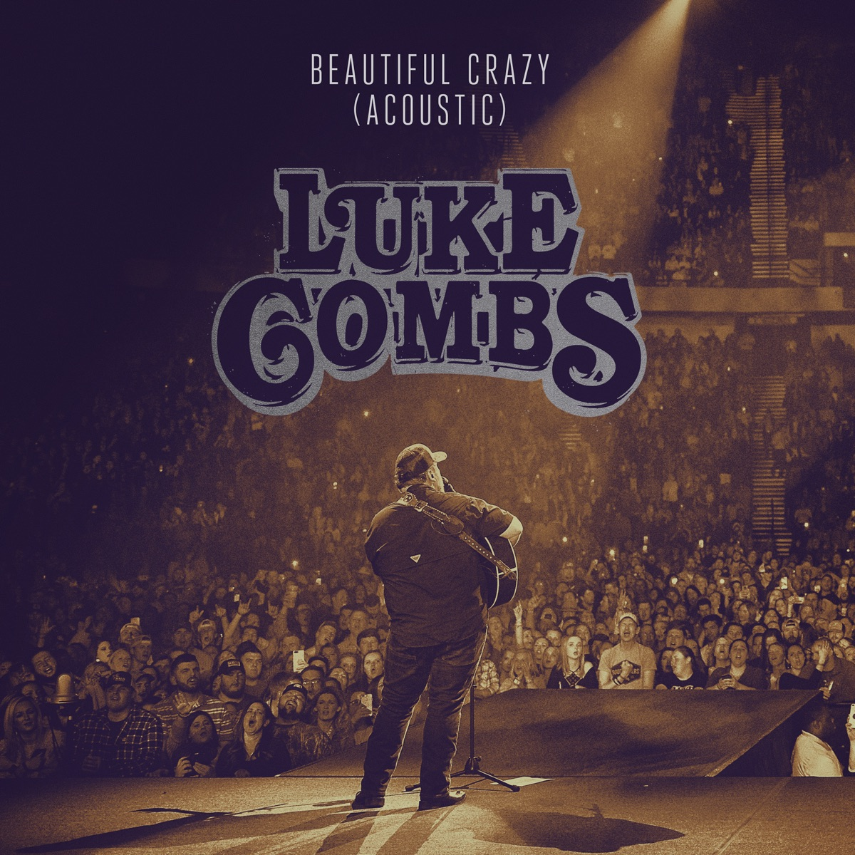 Beautiful Crazy Acoustic - Single Luke Combs CD cover