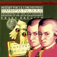 Frans Brüggen, Orchestra of the Age of Enlightenment & Orchestra of the 18th Century - Mozart: Symphonies Nos. 34 & 40; Notturno for 4 Orchestras artwork