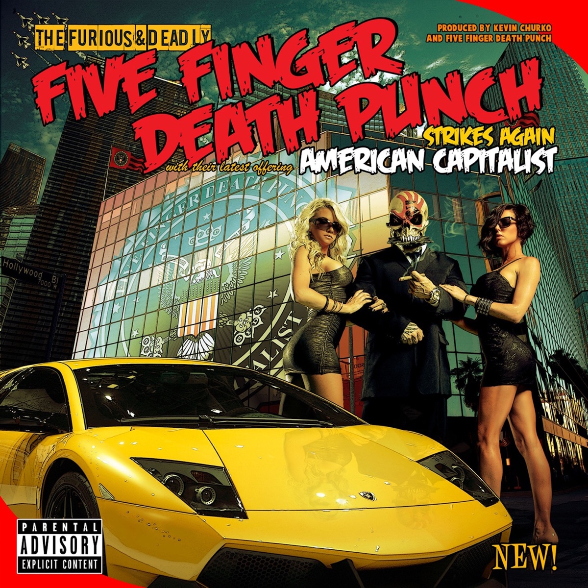 American Capitalist Deluxe Edition Five Finger Death Punch CD cover