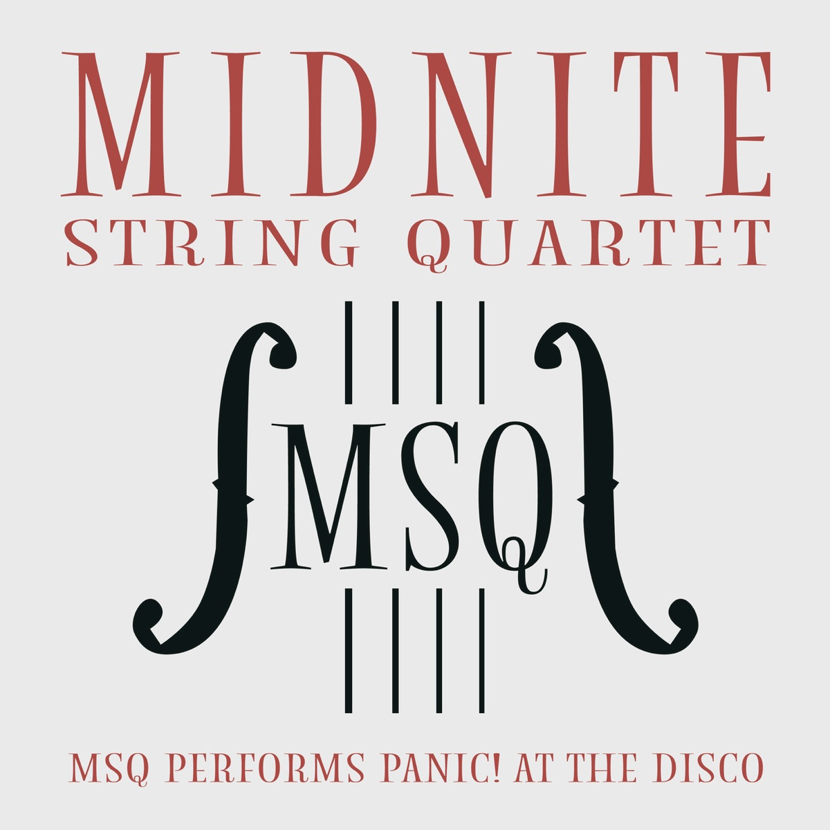 MSQ Performs Panic At the Disco Midnite String Quartet CD cover