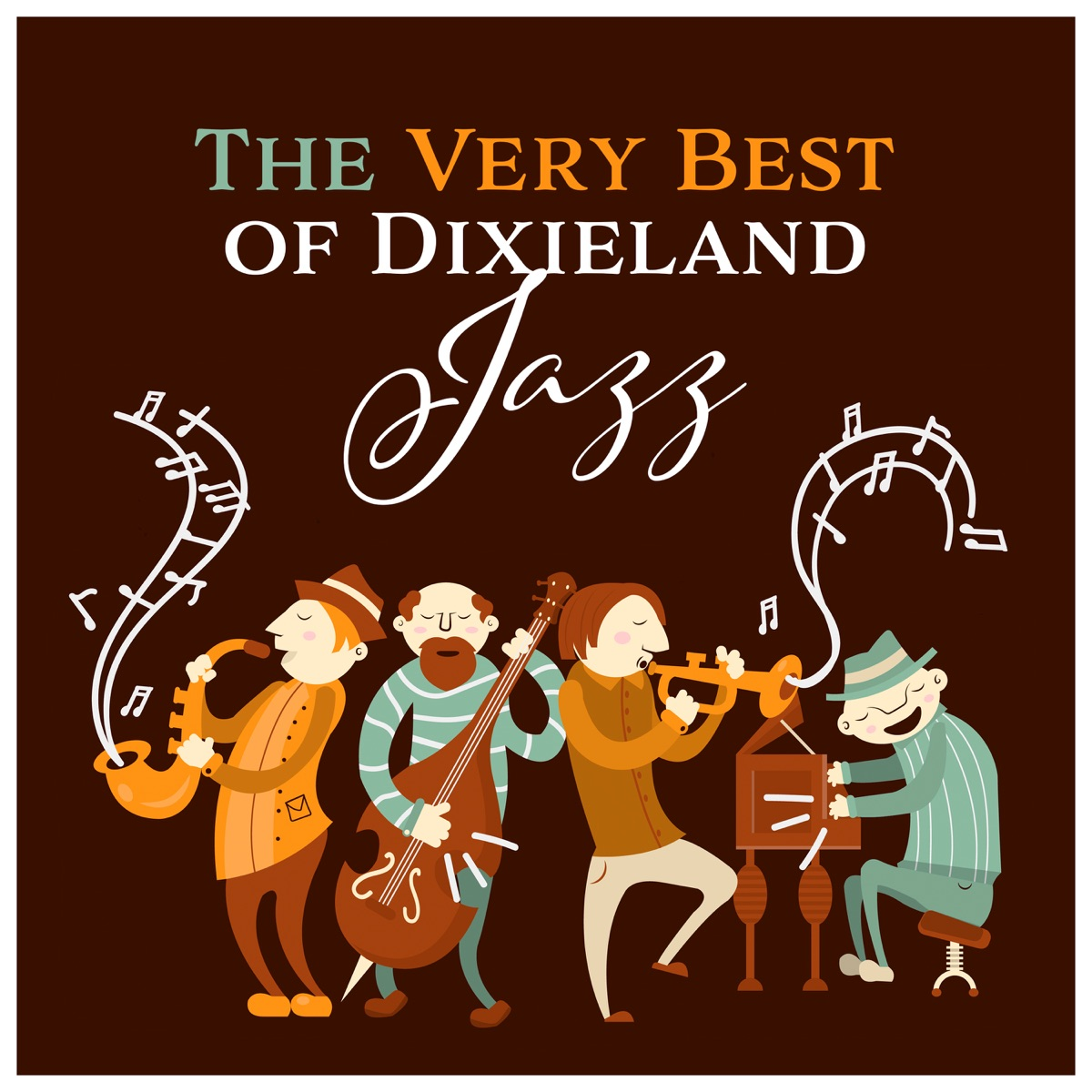 The Very Best of Dixieland Jazz Album Cover by Instrumental Jazz