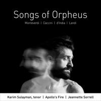 Karim Sulayman, Apollo's Fire & Jeannette Sorrell - Songs of Orpheus artwork