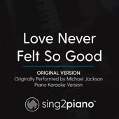 Love Never Felt so Good (Original Version) Originally Perfmormed by Michael Jackson] [Piano Karaoke Version]