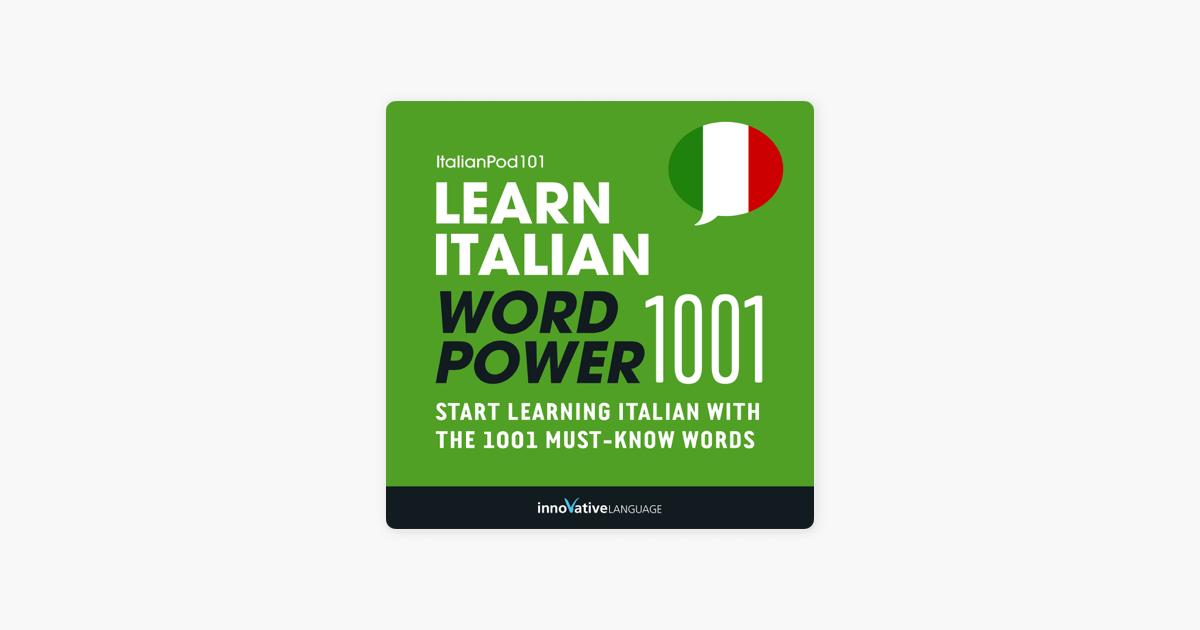 Guide Learn Italian - Word Power 1001