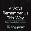 Sing2Piano - Always Remember Us This Way (Originally Performed by Lady Gaga)