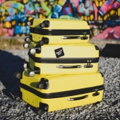 Neutral Snap - Yellow Suitcase