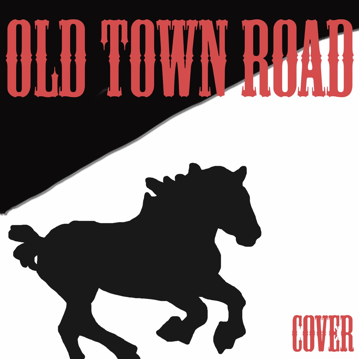 Old Town Road Cover of Lil Nas X - Single Cowboy Man CD cover