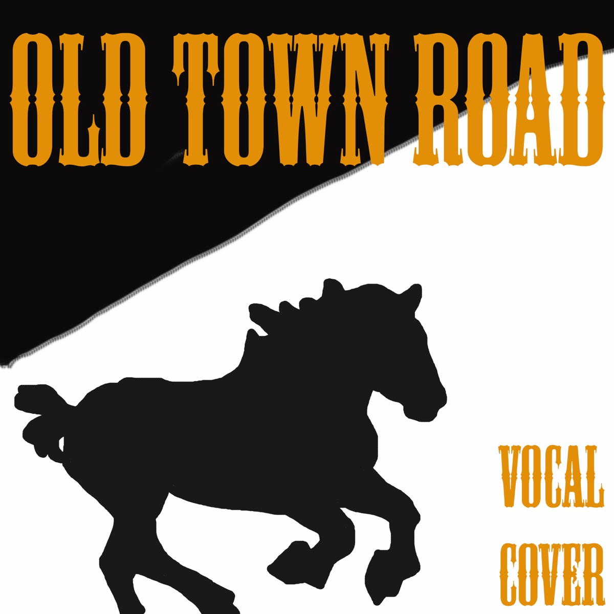 Old Town Road Vocal Cover of Lil Nas X - Single Cowboy Man CD cover