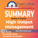 Executive Reads - Summary: High Output Management: 45 Minutes - Key Points Summary/Refresher
