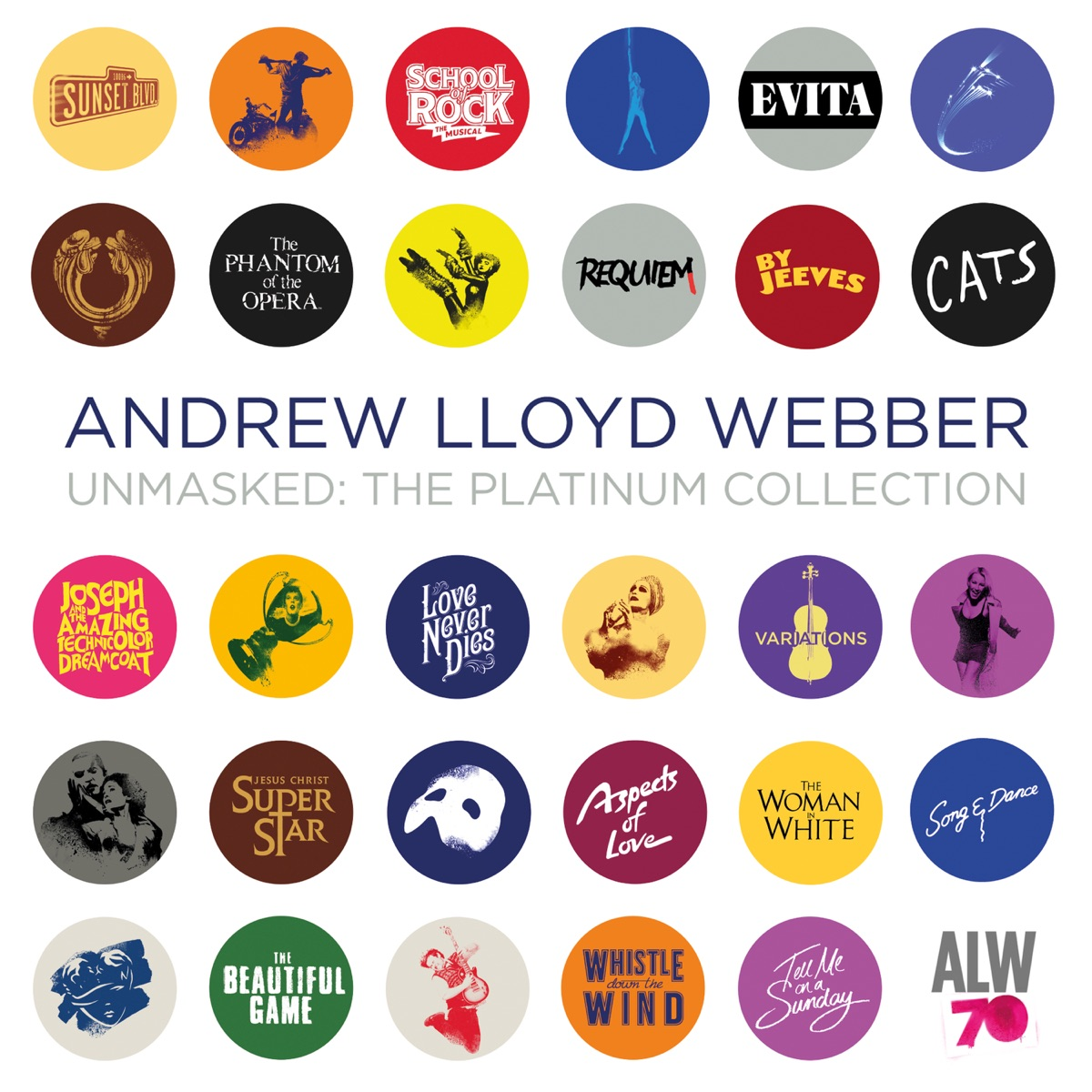 Unmasked The Platinum Collection Deluxe Andrew Lloyd Webber CD cover